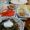 豚肉混ぜご飯&野菜巻き