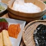川遊びと手巻き寿司