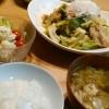 回鍋肉とシンプルポテトサラダの献立