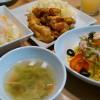 サラダライスとタンドリーチキン