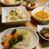 牛ひき肉と夏野菜のバジル炒め
