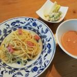トマトの豆乳スープとカルボナーラ…そして、昆虫学者