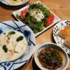 鮭のシチュー&大根とホタテのサラダ