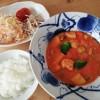 サフランとトマトクリームシチュー