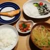 鮭の塩焼きと白和えの和食献立
