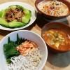 しらす丼&レンコンと豚の炒め物