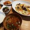 豚肉と白菜の炒め物、ひじきの煮物