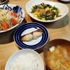 ニラと卵の春雨炒め&鰆の西京焼き