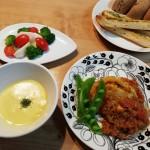 キャベツ1個をカレーソース煮&ガーリックトースト