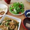 鶏肉生姜焼きとお汁粉