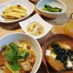 親子丼&白菜とツナの煮物