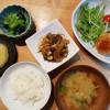豆腐ハンバーグと刻み昆布の煮物