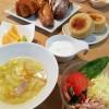 SAWAMURAのパンで朝ごはん