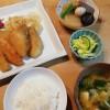 大根煮物と鮭のオニオンソース