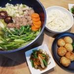 肉団子のお鍋&刻み昆布の煮物