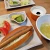 ホットドッグの朝ごはん&牛鍋のお昼ごはん