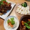 カニの炊き込みご飯とスペアリブ煮込み