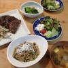 お茶の葉の天ぷら&ひき肉あんかけ丼