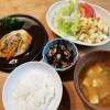 野菜あんかけ豆腐ハンバーグ&マカロニサラダ