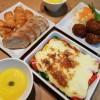 カボチャのスープ&マッシュポテトのグラタン