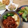 煮込みハンバーグ&春雨のサラダ