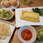 サーモンパイ包み&サツマイモのサラダ