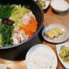 鍋とカボチャとサツマイモのサラダ
