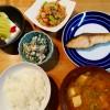 高野豆腐の炒り煮&ぶりの幽庵焼き