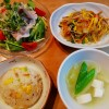 炊き込みチャーハン&春雨の炒め物