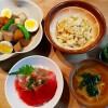 マグロ丼&大根と里芋の煮物