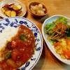 実家でのお正月&カレーライス、キャベツのサラダ