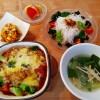 カレーの残りでカレードリア&七草粥の朝ごはん