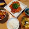 鶏の照り焼き、里芋の煮物の献立