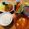 柚子みそのディップ、豚肉と玉ねぎの生姜焼きの献立&福島屋
