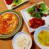 豆腐ハンバーグ~ラタトゥイユ添え、スパニッシュオムレツの献立