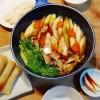雑穀春巻、手作りきりたんぽ鍋