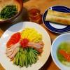 冷やし中華の昼ごはん、梅酒のお菓子