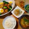 鶏手羽元と大根の煮物、春雨のサラダ