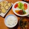 天ぷらと和風あんかけハンバーグ