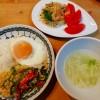 タイ風ランチ~筍とひき肉炒めごはん、春雨のサラダ