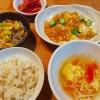 みょうがの甘酢漬け、鶏ひき肉と豆腐のピリ辛煮