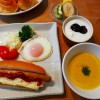 ホットドッグの朝ごはん&シフォンケーキ