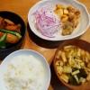 鶏肉と筍の煮物、赤ムツの竜田あげ