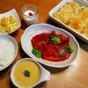 サバのトマト煮&カボチャのグラタンの献立