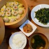 空心菜の炒め物&お魚焼売の献立