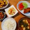 鯛茶漬け&白身魚のフライ、マカロニサラダの献立
