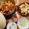 サルシッチャと根菜の蒸し煮、茄子のミートグラタン