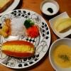 卵サンド、簡単コーンスープの朝ごはん&洋梨のタルト