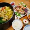 生春巻き、水餃子鍋