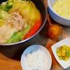 お鍋とお芋のサラダ